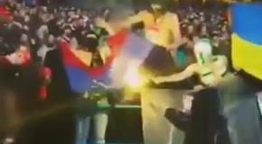 Ультрас Шахтера сожгли флаг ДНР