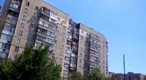 Донецк, 29.07: последствия обстрела многоэтажки на улице Тренева