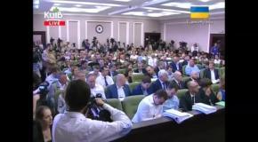Кличко спровоцировал драку в Киевсовете (4.09.2014)