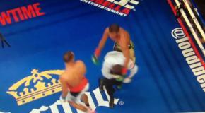 Шведский боксер от души врезал рефери