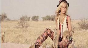 С Изабель Лукас  даже Африка становится дикой (Vogue)