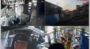 Водитель уступил место женщине с ребенком