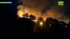 В Харькове горит админсуд