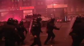 Силы МВД Украины подтянули на Евромайдан свежие силы и БТРы