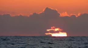 Лиепая.  Морской закат в августе.