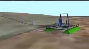 Добыча и промывка песка на реке Аракс в Армении