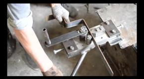 Станок для ковки Гнутик - изготовление зигзага