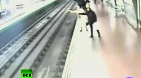 Подвиг в метро .