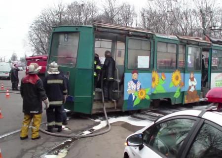 ВКонотопе горел трамвай спассажирами