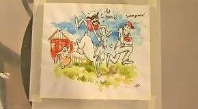КарикатурА - Проект Коза в деревне у бабушки
