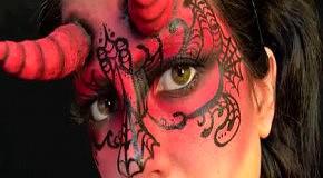 Makeup дьяволицы к Хэллоуину