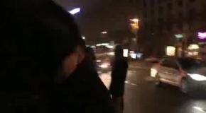 Машина УДАРа с громкоговорителями прорвалась на Майдан
