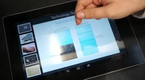 Демонстрация технологии тактильного дисплея от Fujitsu
