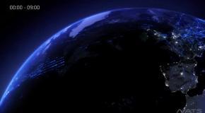 Перелеты над Еропой за 2 минуты - красивое видео
