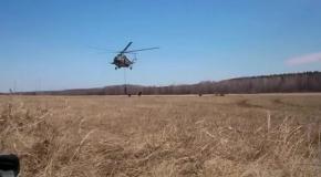 Высадка десанта из вертолета возле Славянска (24.04.2014)