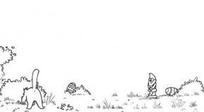 Кот Саймона ищет пасхальные яйца