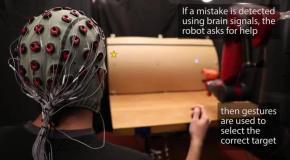 Управлять роботом научились силой мысли