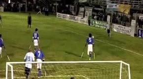 Шикарный гол одноногого футболиста