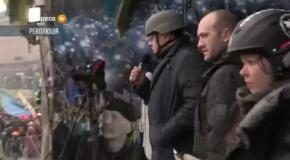 Олег Тягнибок на Майдані Незалежності