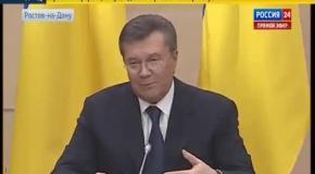 Янукович делает длинные паузы, говоря о Тимошенко