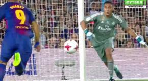Suarez dive vs Real Madrid   Messi Penalty goal vs Real Madrid 13 8 2017