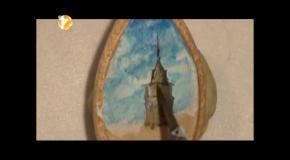 Картина на тыквенном зерне от Хасан Кале