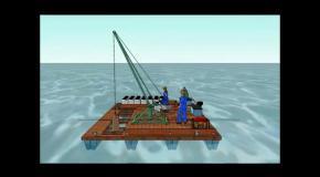 Желонковая установка добычи озерных лечебных грязей
