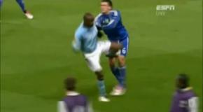 Mario Balotelli Red Card Manchester City vs Dynamo Kiev - Europa League - 17-03-2011