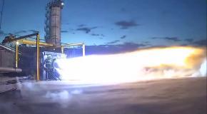 Испытание двигателя BE-4