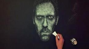 Портрет доктора Хауса из соли
