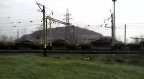 В Донецкой области обнаружили железнодорожный состав с танками