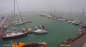 В Одессе у причала утонула яхта