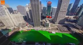 В Чикаго на День Святого Патрика покрасили реку