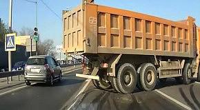 Дрифт на четырехосном грузовике