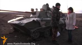Дончане помогают украинским пограничникам на боевом посту (19.03.2014)