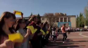 Флешмоб в Мелитополе: Мы - украинцы