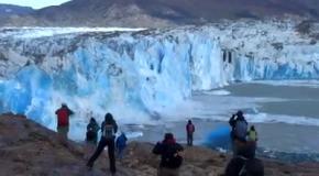 Как тает ледник в Патагонии