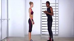 Фитнес с Victoria's Secret: упражнения для ног