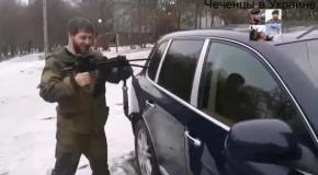 Кадыровцы увозят Porsche Cayenne из Донецка