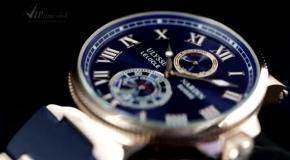 Часы Ulysse Nardin в золотой оправе  Стильный аксессуар