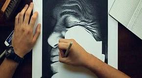 Картина из 3 миллионов чернильных точек Miguel Endara