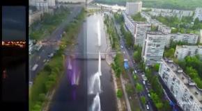 Как работают фонтаны в Русановском канале Киева