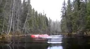 На мотоцикле в озеро через лес