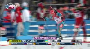 Елена Пидгрушная побеждает на чемпионате мира по биатлону