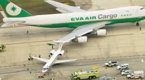 В США грузовой Boeing 747 протаранил пассажирский самолет