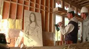 Портрет с применением строительного гвоздомета