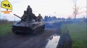 В Славянск едут танки и тяжелая военная техника (15.04.2014)