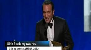 Oscar 2012: вручение статуэтки за Лучшую мужскую роль Jean Dujardin