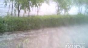 Ураган в Комсомольске 14 июня 2012 года. Часть 2. Град