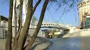 Романтическое предложение руки и сердца на мосту